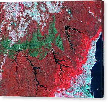 Australian Wildfire Scar Canvas Print by Nasa/gsfc/meti/ersdac/jaros/us-japan Aster Science Team