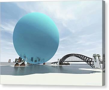 Co2 Canvas Print - Australia's Daily Co2 Emission by Adam Nieman