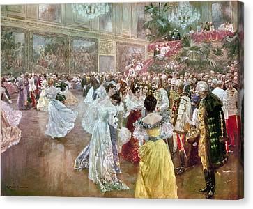 Ball Gown Canvas Print - Austria: Court Ball, 1900 by Granger