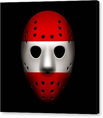 Austria Goalie Mask Canvas Print by Joe Hamilton