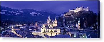 Austria, Salzburg, Aerial View Canvas Print by Panoramic Images