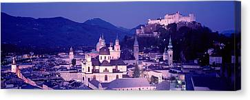 Austria, Salzburg, Panoramic View Canvas Print by Panoramic Images