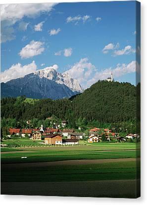 Austria, Tyrol, Motz, View Of Motz Canvas Print by Walter Bibikow