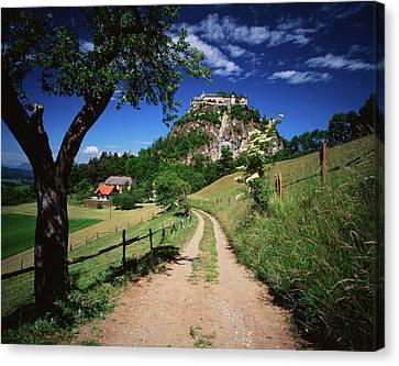 Austria, Tyrol, Reutte, View Of Dirt Canvas Print by Stuart Westmorland