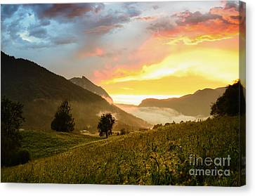 Austrian Mountain Valley After A Summer Rain No2 Canvas Print by Sabine Jacobs