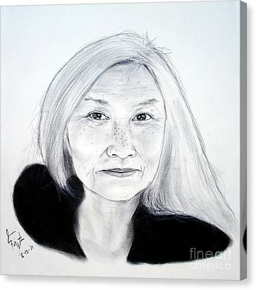 Author And Activist Maxine Hong Kingston Canvas Print by Jim Fitzpatrick