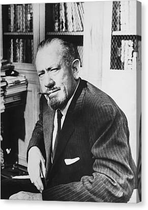 Author John Steinbeck Canvas Print by Underwood Archives