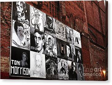 Authors In Boston Canvas Print by John Rizzuto