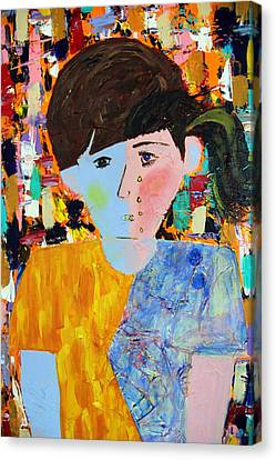 Autism - Child And Mother Canvas Print by Carmencita Balagtas