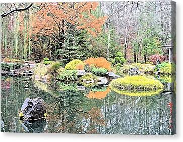 Autumn Lakeside Canvas Print