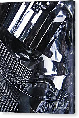 Glass And Metal Art Canvas Print - Auto Headlight 10 by Sarah Loft