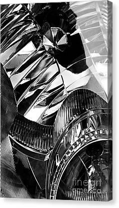 Glass And Metal Art Canvas Print - Auto Headlight 162 by Sarah Loft
