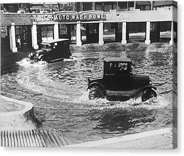 Auto Wash Bowl Canvas Print by Underwood Archives
