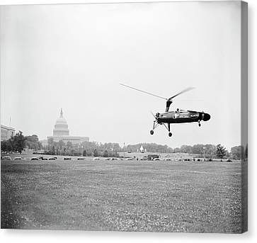 Autogyro Mail Shuttle Canvas Print by Library Of Congress