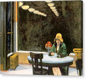 Automat Canvas Print by Edward Hopper