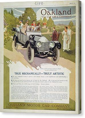 Automobile Ad, 1913 Canvas Print by Granger