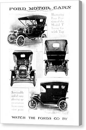 Automobile Advertisement Canvas Print by Granger
