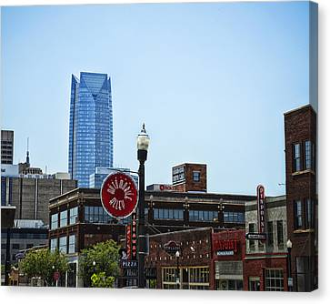 Automobile Alley Skyline Canvas Print