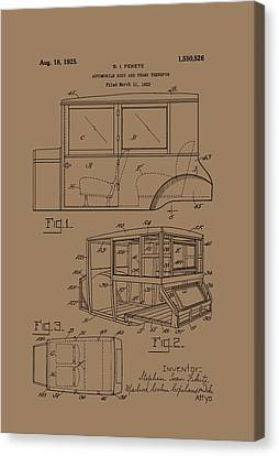 Old Car Canvas Print - Automobile Body And Frame Patent 1925 by Mountain Dreams