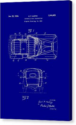 Old Car Canvas Print - Automobile Body Construction Patent 1934 by Mountain Dreams