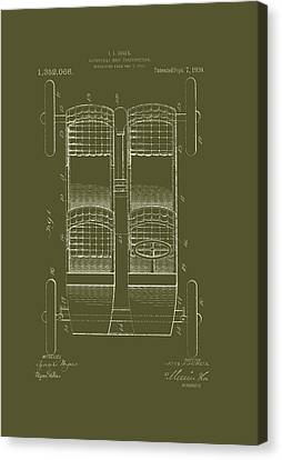 Old Car Canvas Print - Automobile Body Patent 1920 by Mountain Dreams