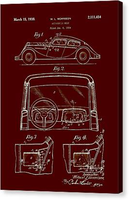 Old Car Canvas Print - Automobile Body Patent 1938 by Mountain Dreams