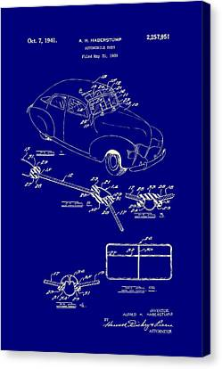 Old Car Canvas Print - Automobile Body Patent 1941 by Mountain Dreams