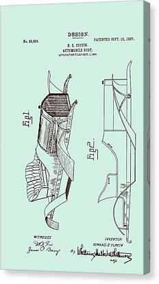 Automobile Patent 1907 Canvas Print by Mountain Dreams