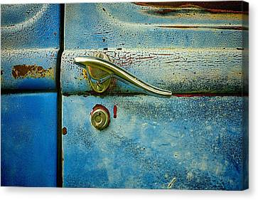 Turquoise And Rust Canvas Print - automobiles- cars - Blue and Rust  by Ann Powell