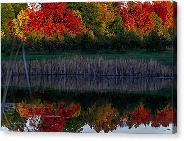 Autum At Orchard Pond Canvas Print by Gene Sherrill