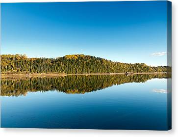 Autum Forest Reflection In The Ocean  Canvas Print by Ulrich Schade