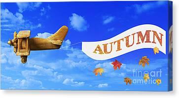 Autumn Advertising Banner Canvas Print by Amanda Elwell