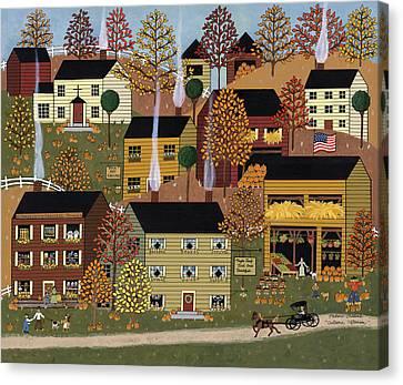 Autumn Afternoon Canvas Print by Medana Gabbard
