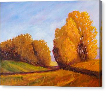 Autumn Afternoon Canvas Print by Nancy Merkle