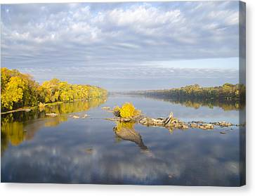 Autumn Along The Delaware River  Canvas Print by Bill Cannon