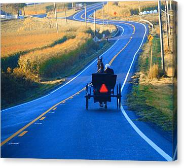 Autumn Amish Buggy Ride Canvas Print by Dan Sproul