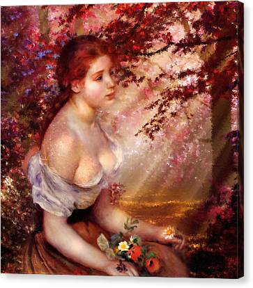 Autumn And The Lonely Wait - Dedication Canvas Print by Georgiana Romanovna