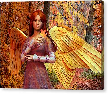 Autumn Angel 2 Canvas Print by Suzanne Silvir
