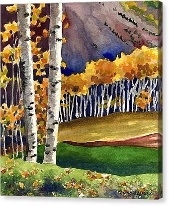 Alpine Canvas Print - Autumn Aspens by Anne Gifford