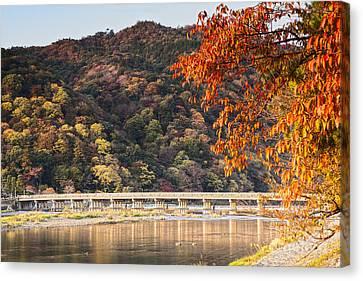 Autumn At Arashiyama Kyoto Japan Canvas Print