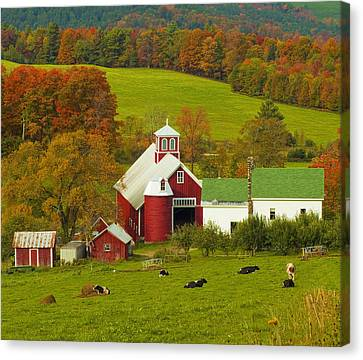 Autumn At Bogie Mountain Dairy Farm Canvas Print