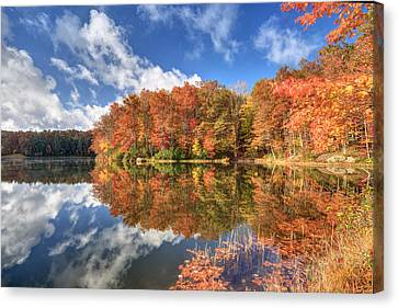 Autumn At Boley Lake Canvas Print