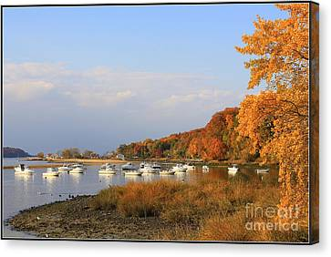Autumn At Cold Spring Harbor Canvas Print by Dora Sofia Caputo Photographic Art and Design