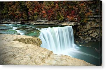 Autumn At Cumberland Falls Canvas Print by Jaki Miller