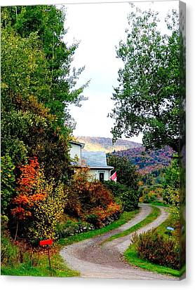 Autumn At French River Canvas Print by Janet Ashworth