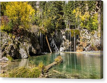 Autumn At Hanging Lake Waterfall - Glenwood Canyon Colorado Canvas Print