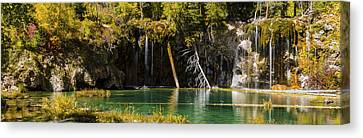 Autumn At Hanging Lake Waterfall Panorama - Glenwood Canyon Colorado Canvas Print by Brian Harig