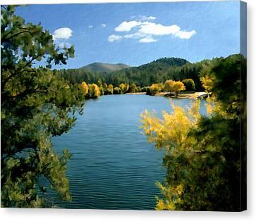 Autumn At Lynx Lake Canvas Print by Kurt Van Wagner