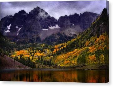 Canvas Print featuring the photograph Autumn At Maroon Bells by Ellen Heaverlo