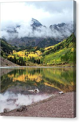 Autumn At Maroon Bells In Colorado Canvas Print by Julie Magers Soulen